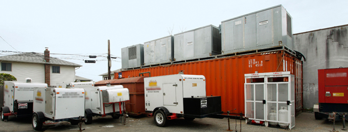 Some of Neat Heats huge Inventory of Temporary Heating and Cooling Equipment