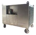 portable steam heater on wheels