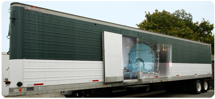 Industrial Size Portable Temporary Steam & Hot Water Boilers Available for Jobsites.