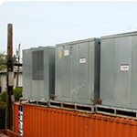 Temporary portable industrial steam heater and hot water air handlers