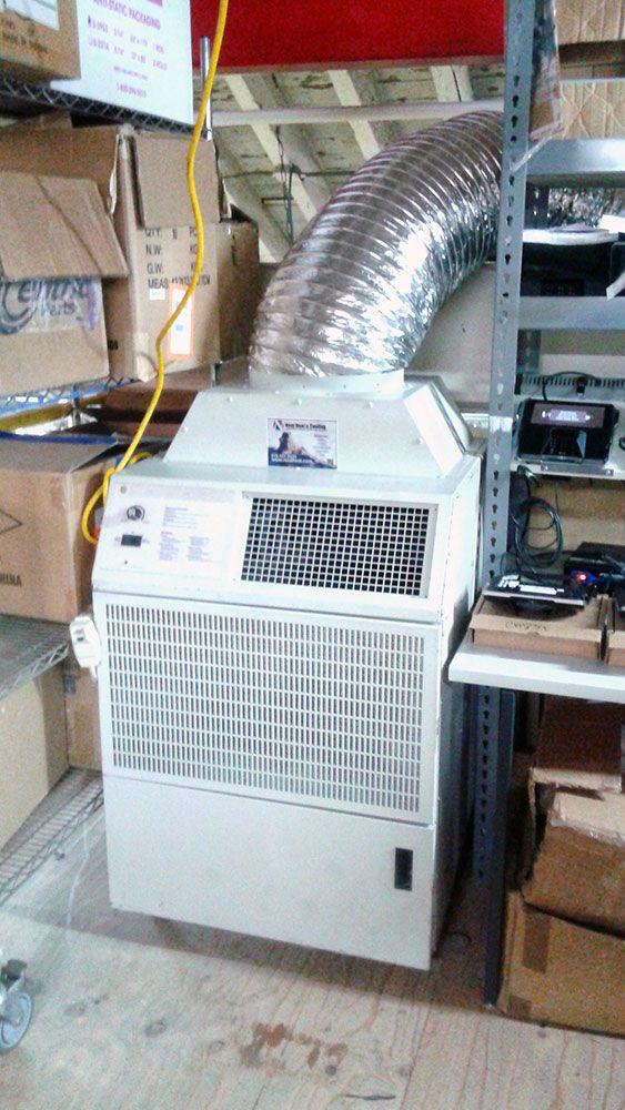 Temporary portable air conditioning unit
