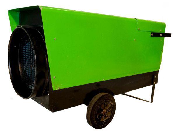 Temporary electric heaters generator combo rental unit