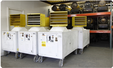 Special Event Heating rentals equipment providing Temporary Heating Solutions