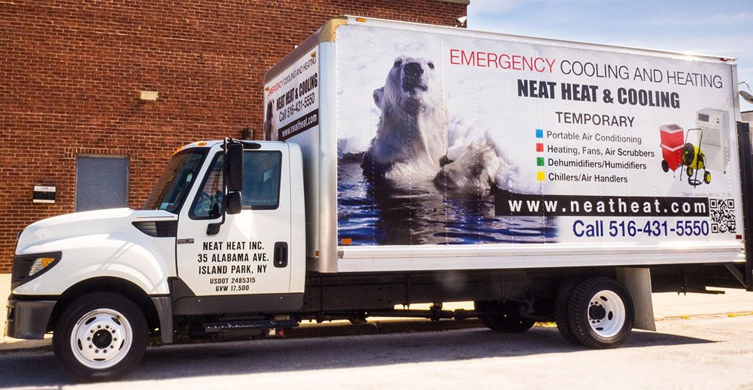 Neat Heat Delivery Truck on emergency contact call