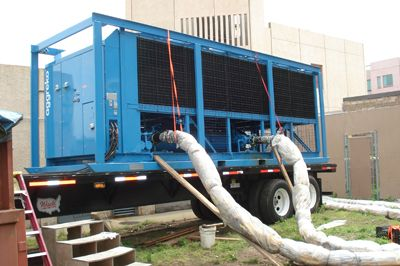 Temporary air conditioning cooling equipment rentals and Emergency Cooling Units.